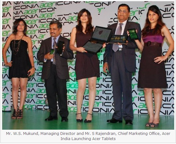 acer iconia - best android tablet - honeycomb - Android launch