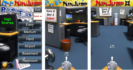best android apps - paper toss - 1