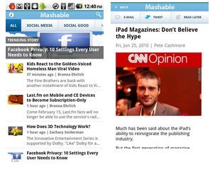 mashable android application - best android app