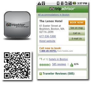 trip advisor for android QR code - best android apps