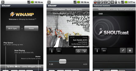 winamp android app - best android app
