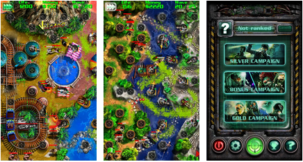Grave Defence android app for tablet