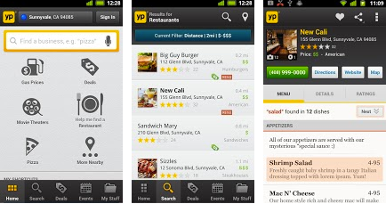 Yellow Pages Android App Free