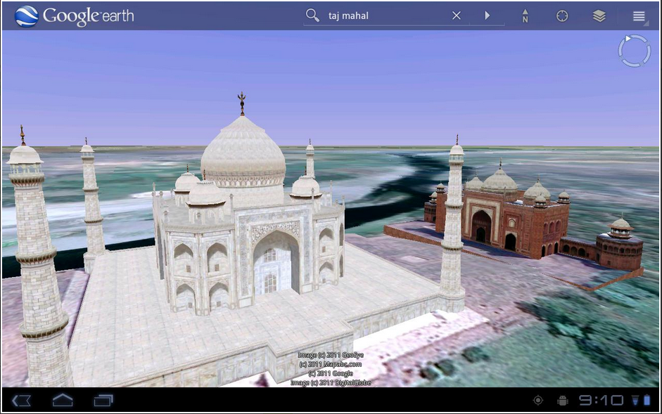 google earth android app for tablet