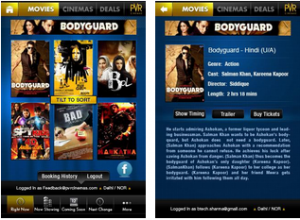 best android app movie booking