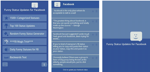 funny facebook status android app