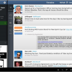 twitter for Android honeycomb tablet