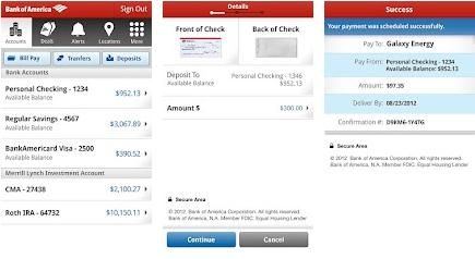 bank of america mobile banking app