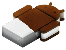 Ice crean sandwitch android 4.0