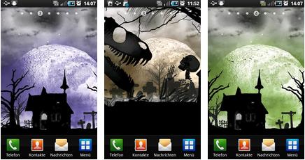 midnight halloween android wallpaper