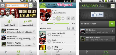 saavn android app for music
