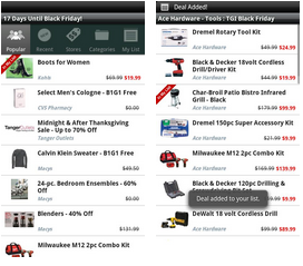 Black friday deal cacher android app