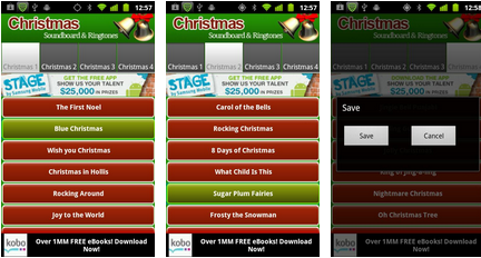 christmas ringtone android app