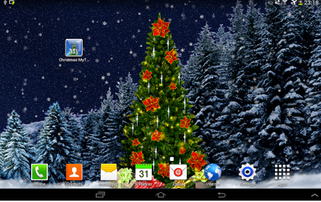 christmas tree live walppaper android application