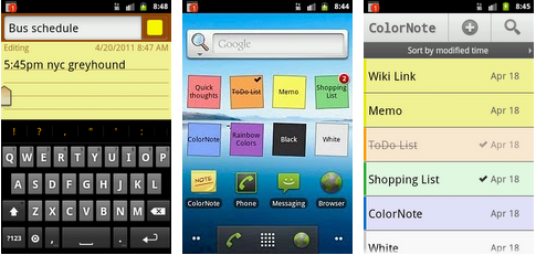 notepad android application
