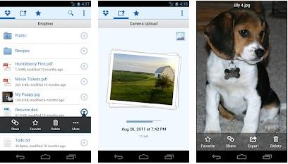 dropbox android tablet app