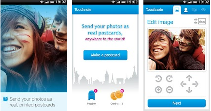 touchnote android 4.0 application