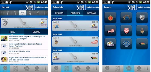 IPL T20 Cricket android mobile app