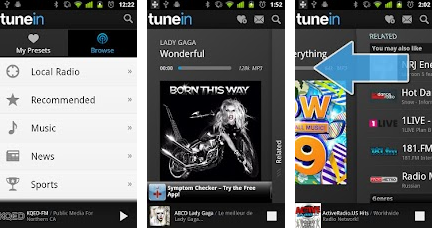 tunein android application