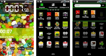 jelly bean go launcher theme