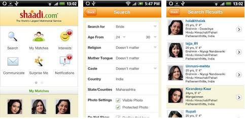 shaadi matrimony marriage android app