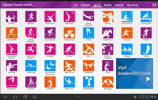 olympic medal tally android app