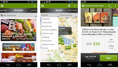 Groupon android app for deals