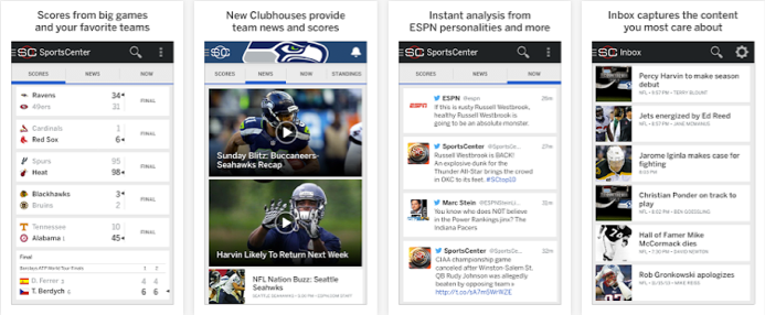 ESPN sports android app free