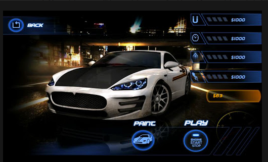 Speed racing App for android