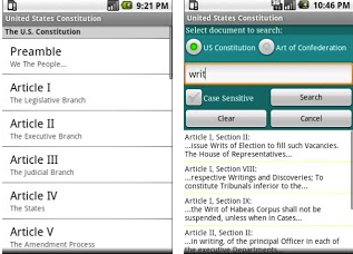 US constitution android application