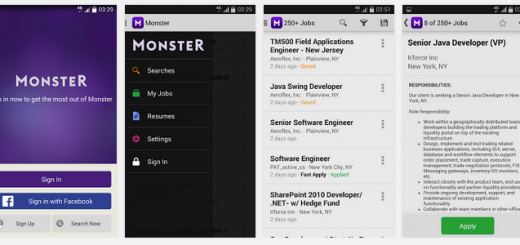 monster andoid app job search