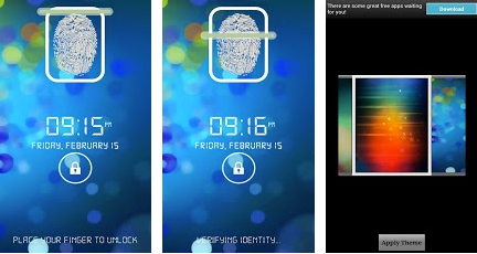finger print lock for android