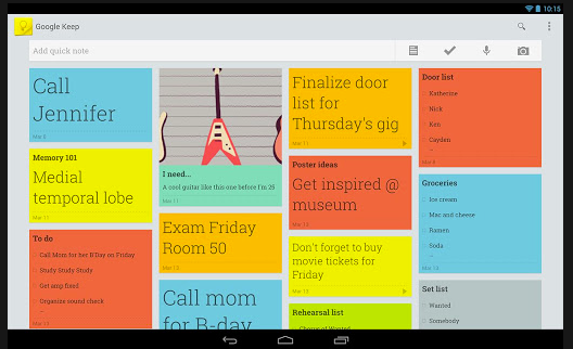 google keep android application