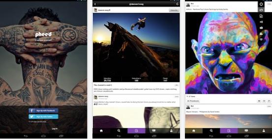 pheed android app digital social network