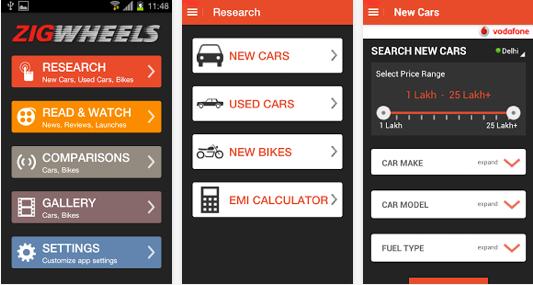 zigwheels android app