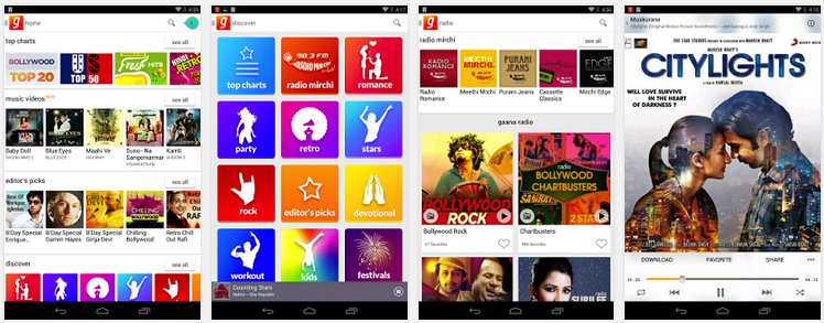gaana free bollywood music app