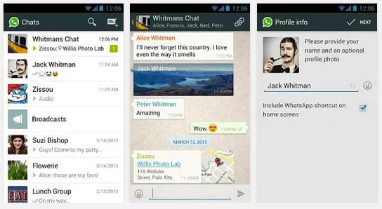 whatsapp android app free